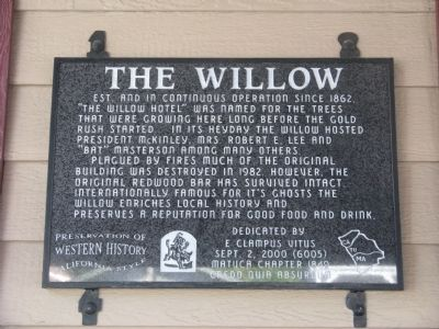 The Willow Marker image. Click for full size.