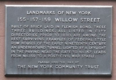 155 - 157 - 159 Willow Street Marker image. Click for full size.