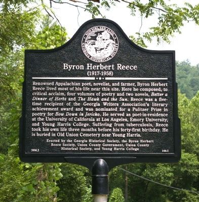 Byron Herbert Reece Marker Photo, Click for full size