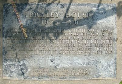 Braley House Marker Photo, Click for full size