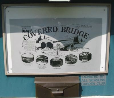 The Philippi Covered Bridge Marker image. Click for full size.