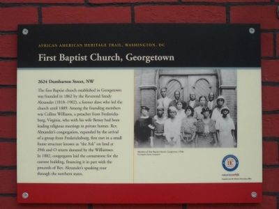 First Baptist Church, Georgetown Marker image. Click for full size.