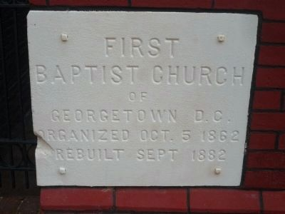 """First Baptist Church, Georgetown, DC"" image. Click for full size."