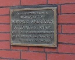 First Baptist Church, Georgetown Marker - Historic American Building Survey image. Click for full size.