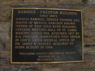Ramirez – Preston Building Marker image. Click for full size.