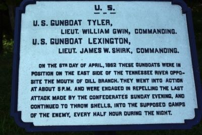 U.S. Gunboat Tyler and U.S. Gunboat Lexington marker Photo, Click for full size