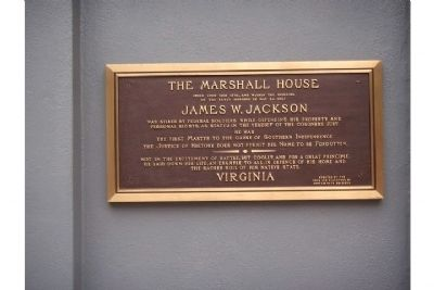 The Marshall House Marker on the Hotel Monaco Photo, Click for full size