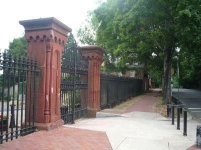 Evermay Marker and gateway - under the trees in the background on 28th Street image. Click for full size.