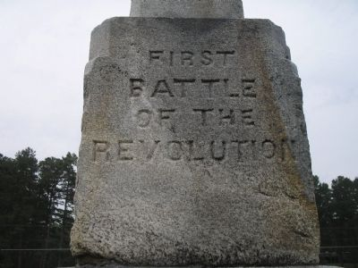 First Battle of the Revolution Marker image. Click for full size.