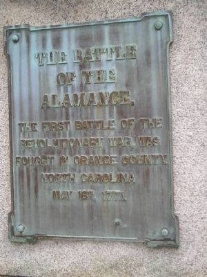 The Battle of the Alamance Marker image. Click for full size.