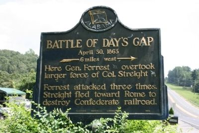 Battle of Day's Gap Marker image. Click for full size.