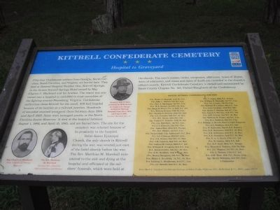 Kittrell Confederate Cemetery Marker Photo, Click for full size