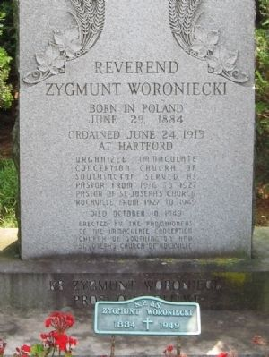Reverend Zygmunt Woroniecki Marker Photo, Click for full size