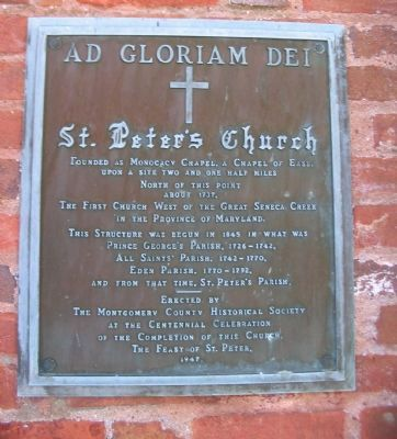 St. Peter's Church Marker Photo, Click for full size