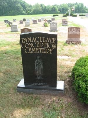 Immaculate Conception Cemetery Entrance Marker Photo, Click for full size