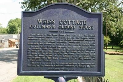 Weiss Cottage Marker image. Click for full size.
