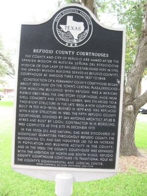 Refugio County Courthouse Marker image. Click for full size.