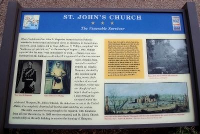 St. John�s Church CWT Marker Photo, Click for full size