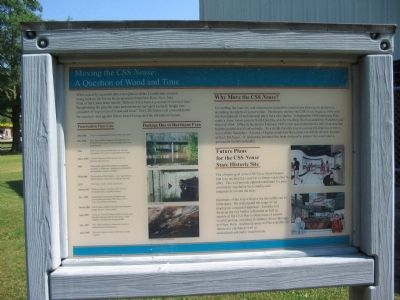 Moving the CSS Neuse Marker Photo, Click for full size