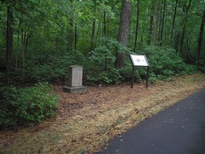 Markers in Guilford Courthouse NMP image. Click for full size.