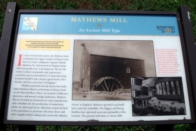 Mathews Mill Marker image. Click for full size.