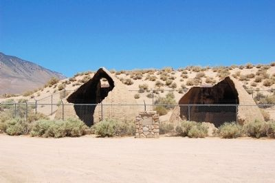 Cottonwood Charcoal Kilns Marker Base and Kiln Ruins image. Click for full size.