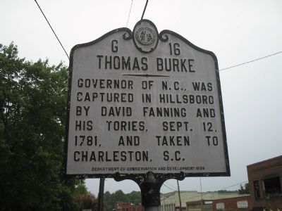 Thomas Burke Marker image. Click for full size.