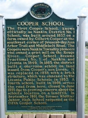 Cooper School Marker image. Click for full size.