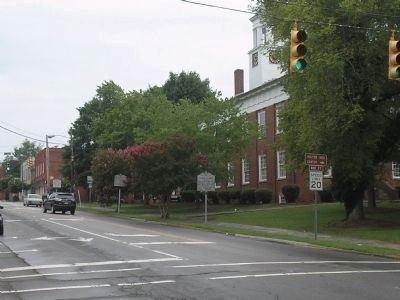 Markers in the Hillsborough Historic District image. Click for full size.