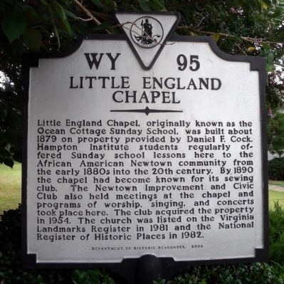 Little England Chapel Marker image. Click for full size.
