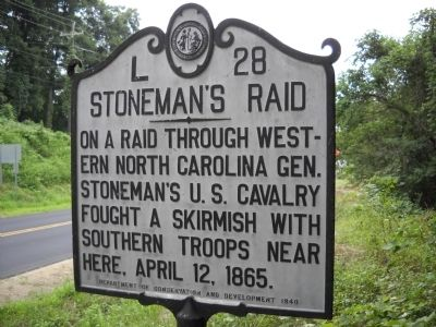 Stoneman�s Raid Marker image. Click for full size.