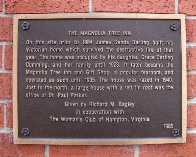 The Magnolia Tree Inn Marker image. Click for full size.