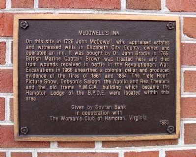 McDowell's Inn Marker image. Click for full size.