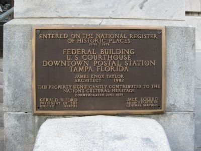 Federal Building NRHP Plaque image. Click for full size.