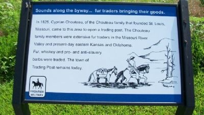 Sounds along the byway...fur traders bringing their goods. Marker Photo, Click for full size