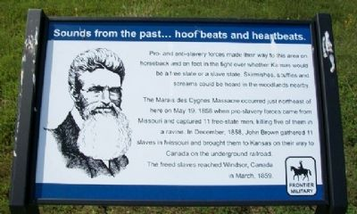 Sounds from the past...hoof beats and heartbeats. Marker Photo, Click for full size