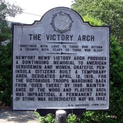 The Victory Arch Marker image. Click for full size.