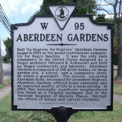 Aberdeen Gardens Marker image. Click for full size.