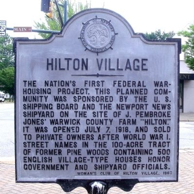 Hilton Village Marker Photo, Click for full size