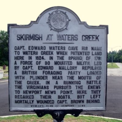 Skirmish At Waters Creek Marker image. Click for full size.