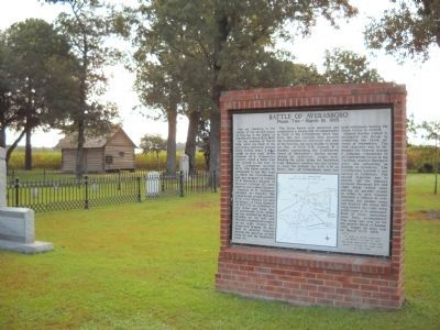 Marker in Civil War Cemetery image. Click for full size.