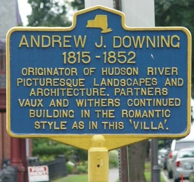 Andrew J. Downing 1815-1852 Marker image. Click for full size.