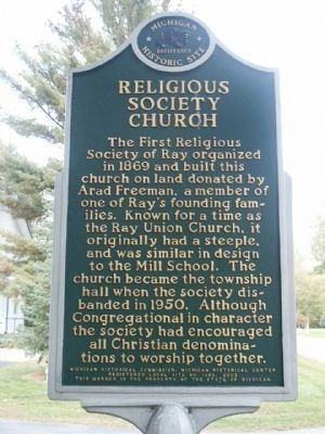 Religious Society Church Marker image. Click for full size.