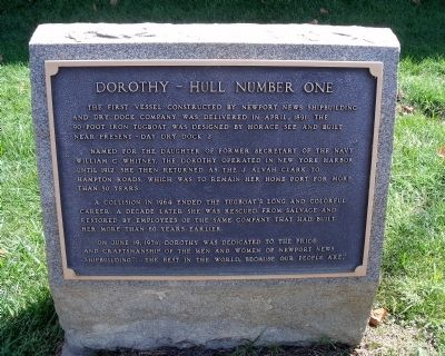 Dorothy – Hull Number One Marker image. Click for full size.