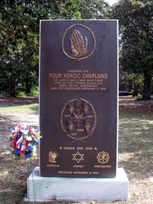 Four Heroic Chaplains Monument image. Click for full size.