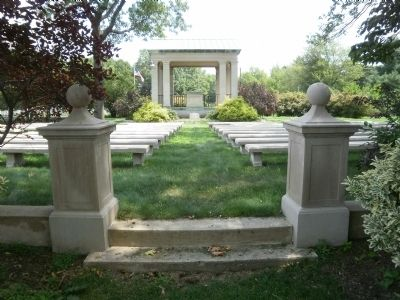 Rostrum in Beverly National Cemetery image. Click for full size.