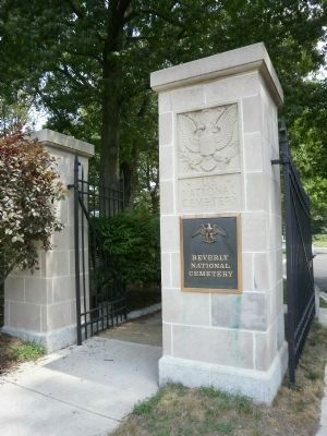 Beverly National Cemetery Gate image. Click for full size.