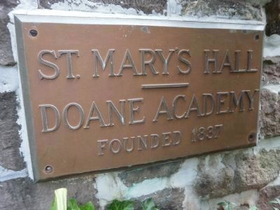 St Mary's Hall/Doane Academy marker image. Click for full size.