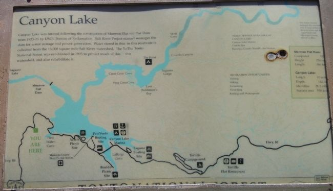Canyon Lake Marker image. Click for full size.