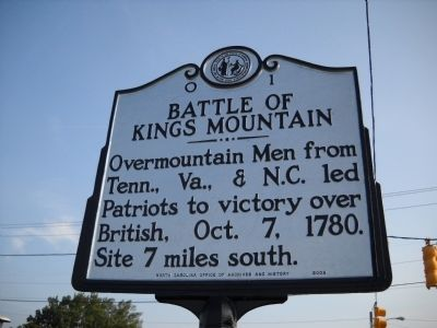 Battle of Kings Mountain Marker Photo, Click for full size